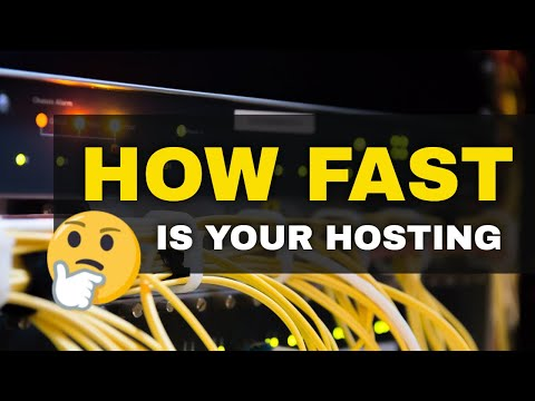 How fast your web hosting is performing | web hosting for wordpress speed test